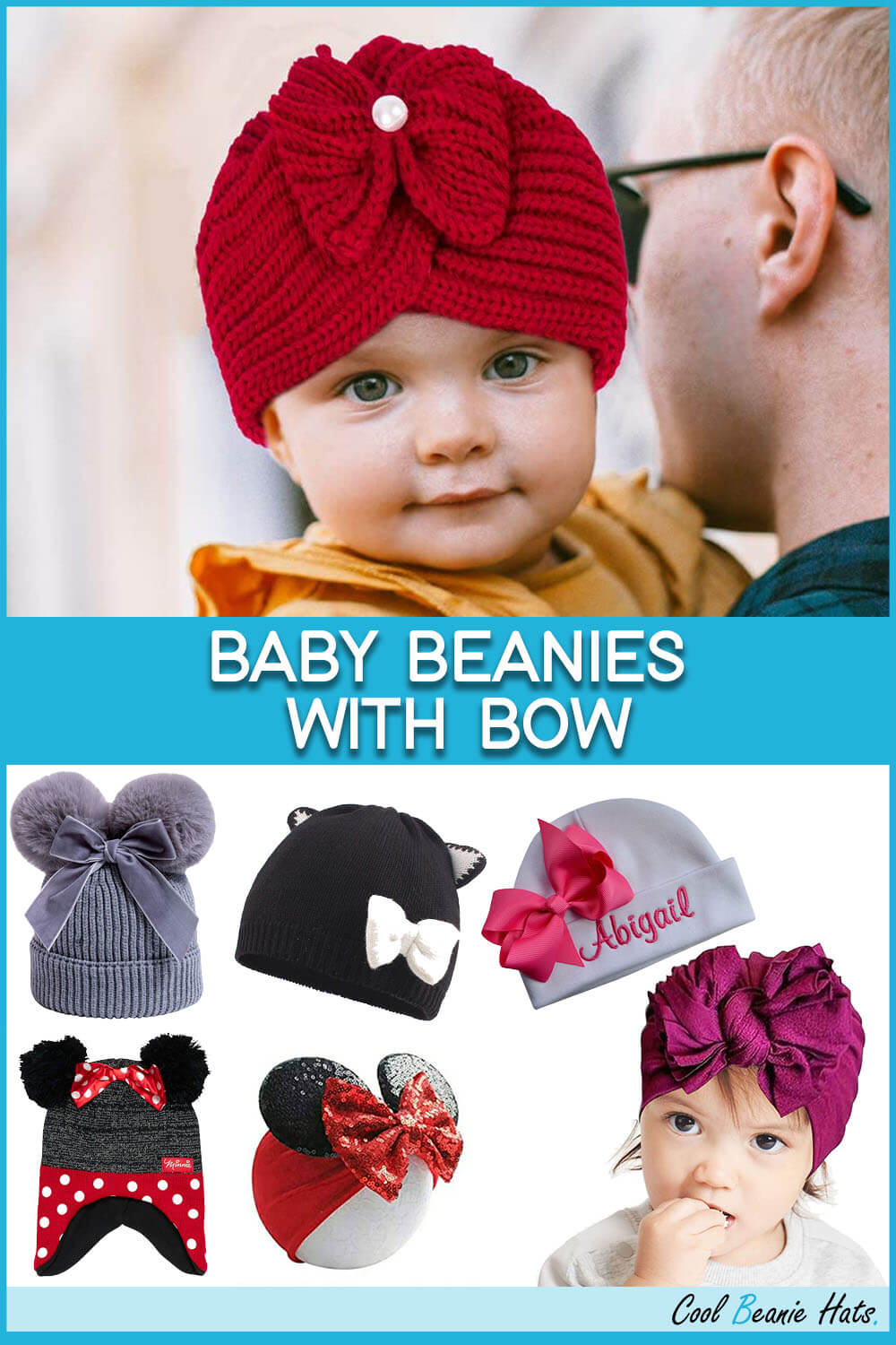 Baby Beanies With Bow
