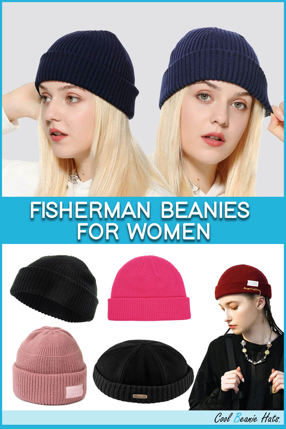 Fisherman Beanies for Women