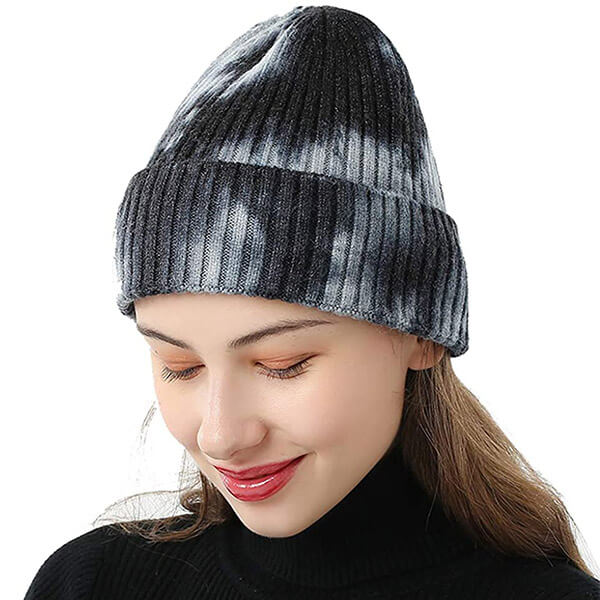 Knitted Cold-Resistant Tie Dye Beanie