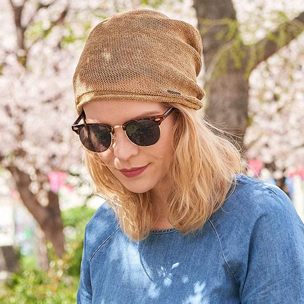 Cooling Lightweight Hemp Beanie Hat For Summer