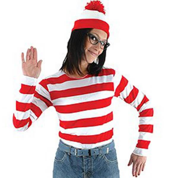 Waldo Beanie And Adult Halloween Costume