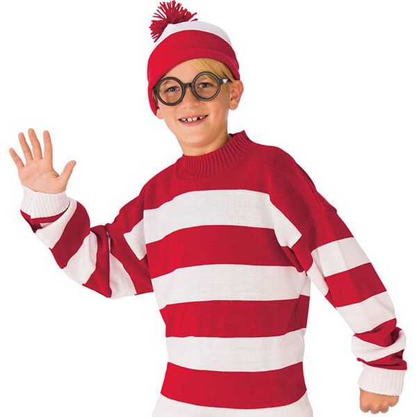 Deluxe Quality Where's Waldo Beanie And Halloween Set