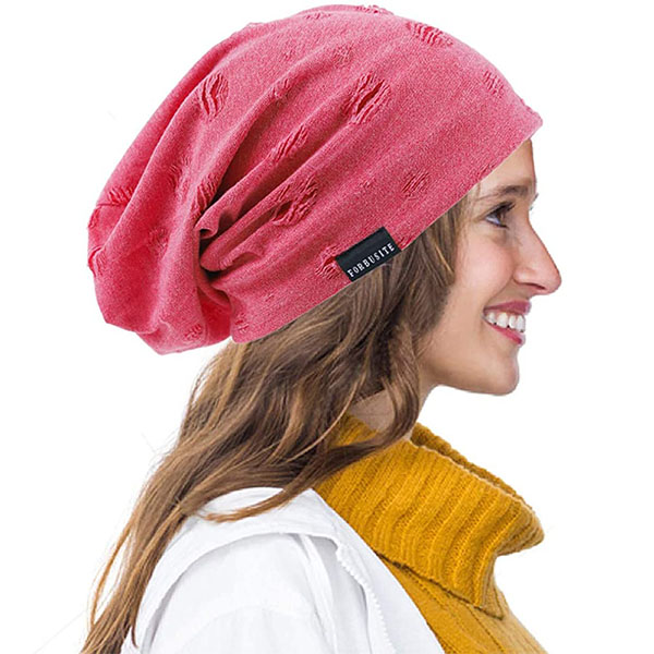 Skull Cap Style Knitted Baggy Thin Beanie Hat