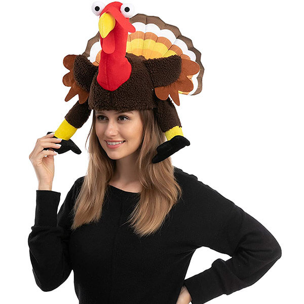 Turkey Hat With Moving Wings And Legs For Cosplay