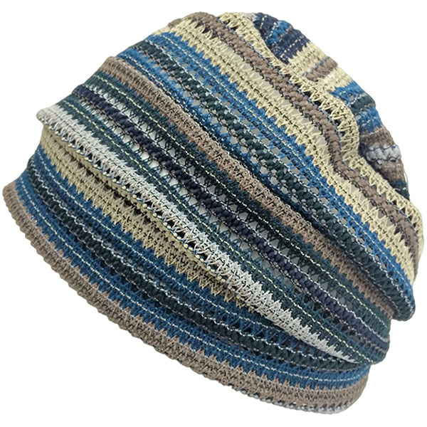 Thin Summer Beanie With Mesh Style Knit
