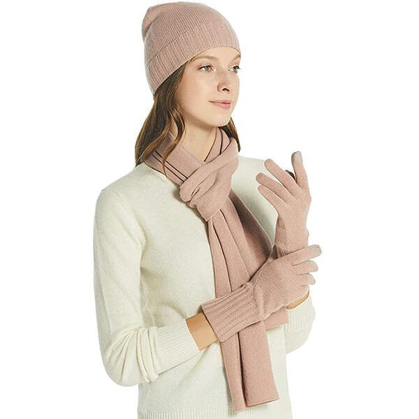 Scarf, Gloves, Beanie Hat Gift Box Set