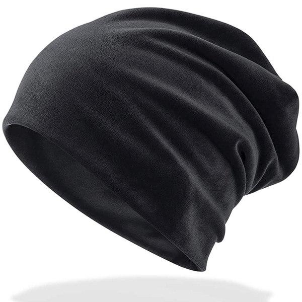 Baggy Skull Cap Type Velvet Beanie Hat