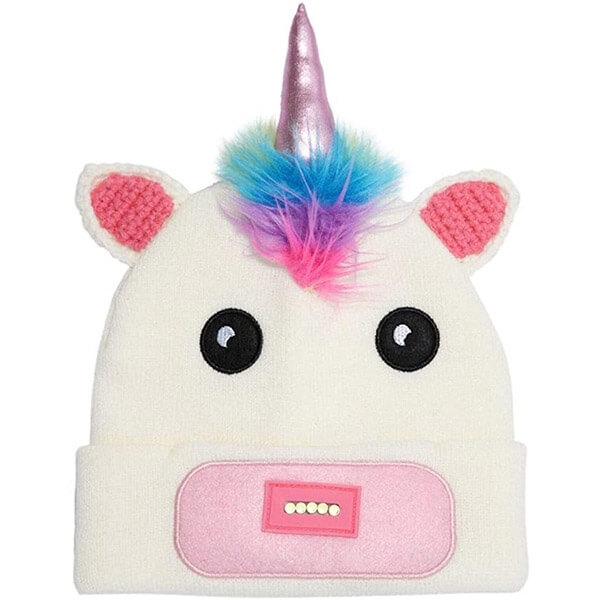 Warm And Lighted Unicorn Beanie With Cuff
