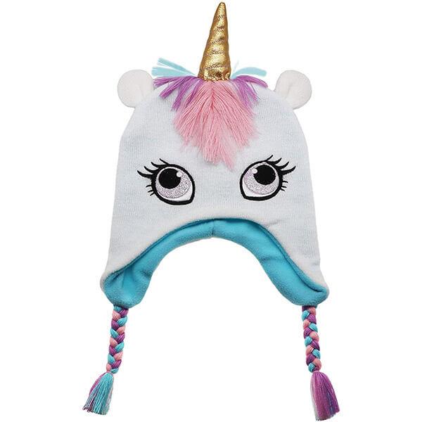Knit Earflap Warm Fleece Lined Unicorn Beanie