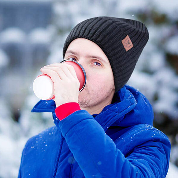 Cold Weather And Windproof Beanie With Fleece Lining