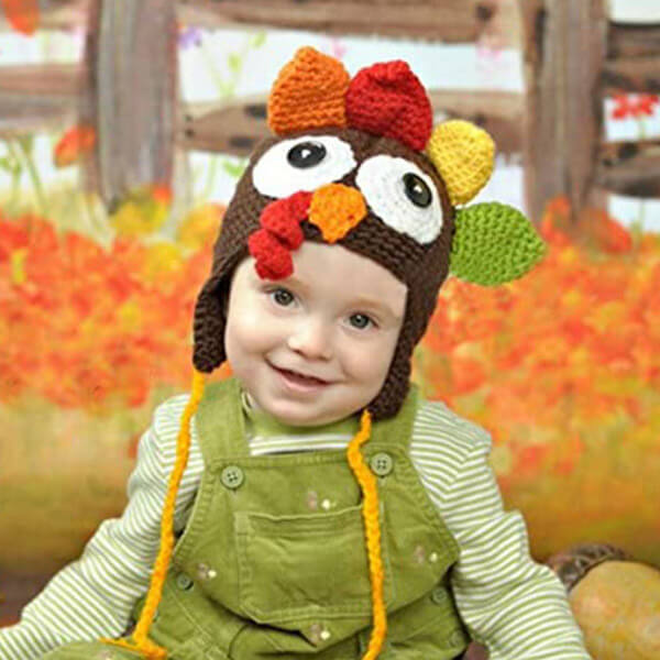Knitted Turkey Hat For Thanksgiving And Christmas