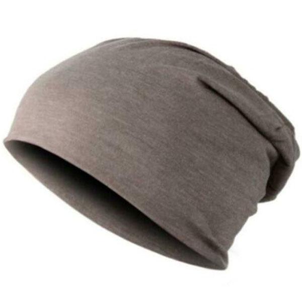 Plain Knit Hat Baggy Cap Cuff Slouchy