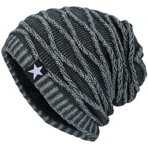 Knitted Warm Ski Cap Style Slouchy Beanie