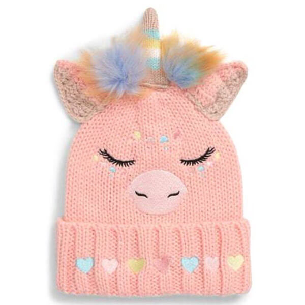 Lovely Knitted Warm Unicorn Beanie Hat
