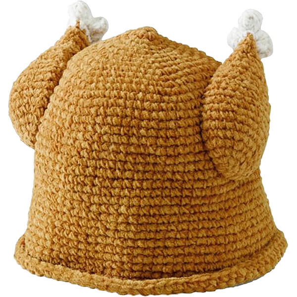 Cable Knitted Turkey Hat For Newborns