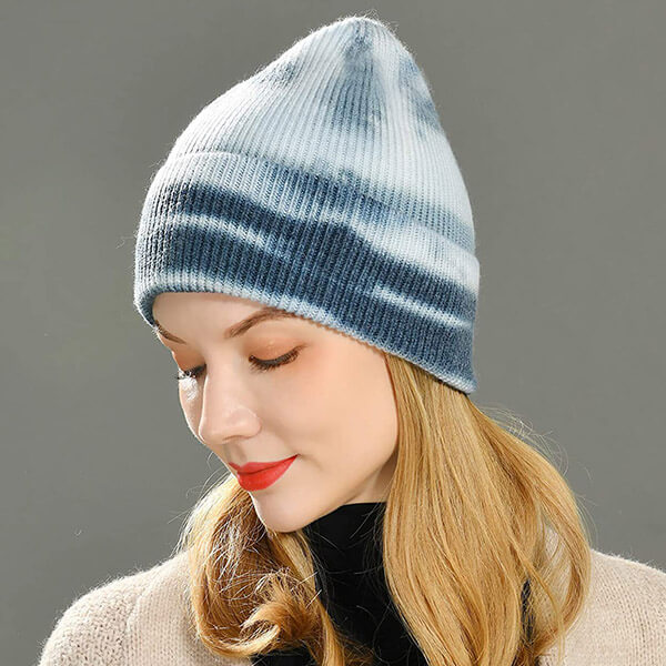Cuffed Cashmere Wool Winter Ski Beanies