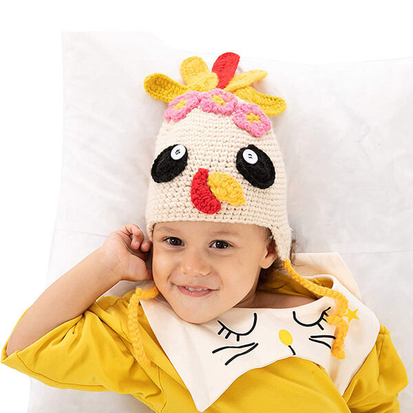 Colorfully Knitted Turkey Beanie Hat For Infants