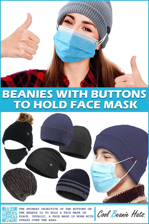 Face Mask Button Beanie