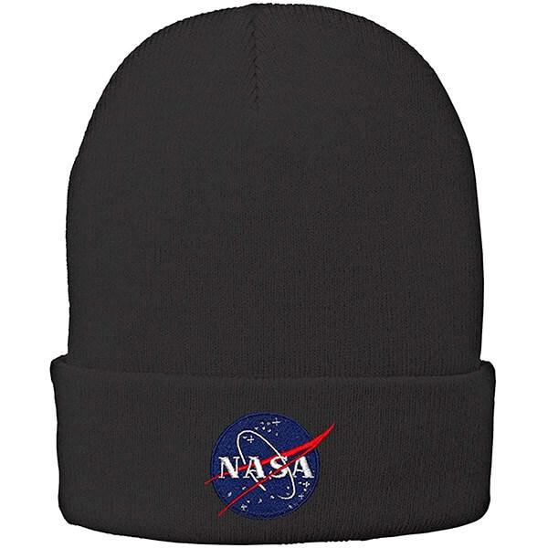 Complete coverage cuff NASA beanie