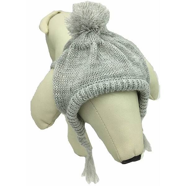 Lovely Warm Knitted Pompom Dog Beanies