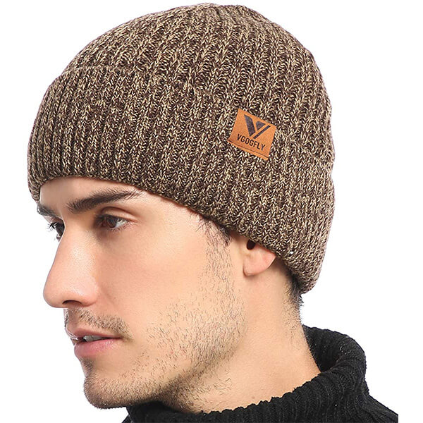 Slouchy knit skull cap beanie for guys