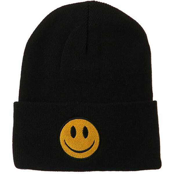 Solid colored smiley face beanies