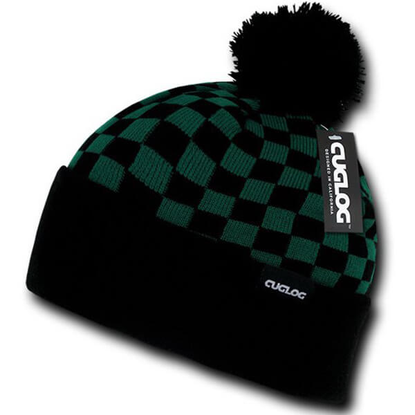 100℅ Cotton CUGLOG Skin Friendly Checkered Beanie