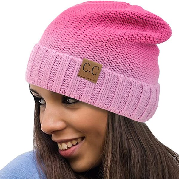 Double Shade Sweat Free Pink Beanies for You