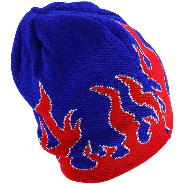Navy Blue Red Beanie To Keep You Warm