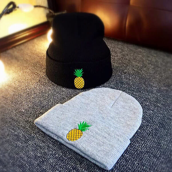 Knitted Pineapple Wool Winter Hat
