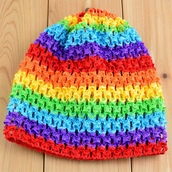 Multihued waffle beanie for your toddler