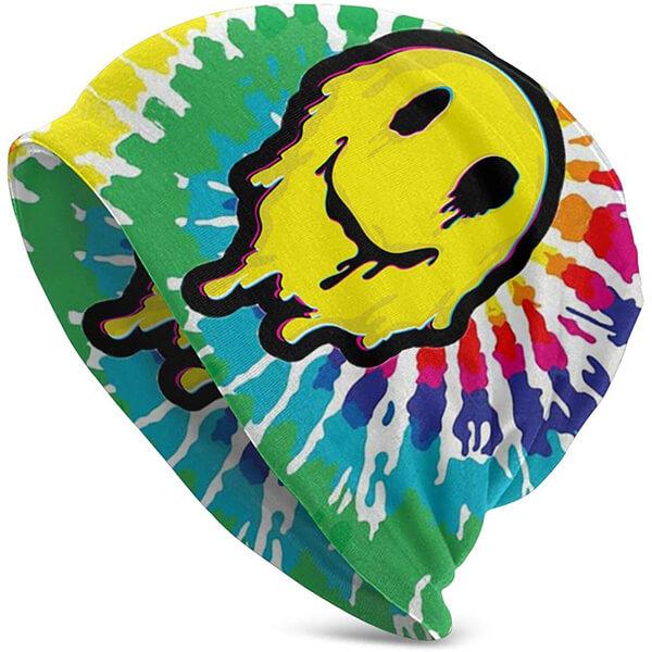 Rainbow dash smiley beanie hats for teens