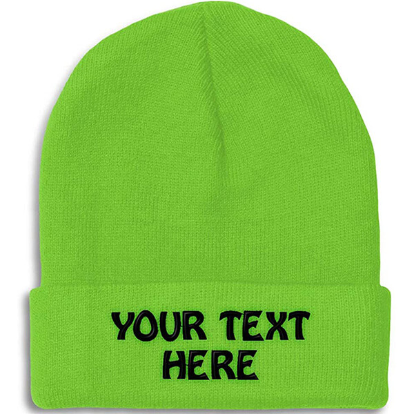 Regular Usage Custom Embroidered Beanie