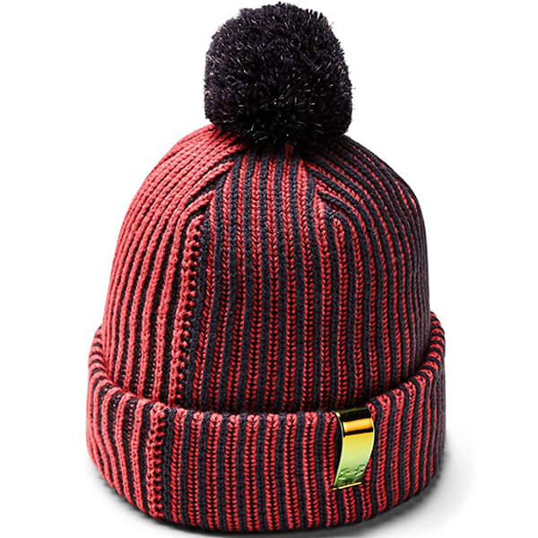 Two-Tone Beanie With Stripes for Girls