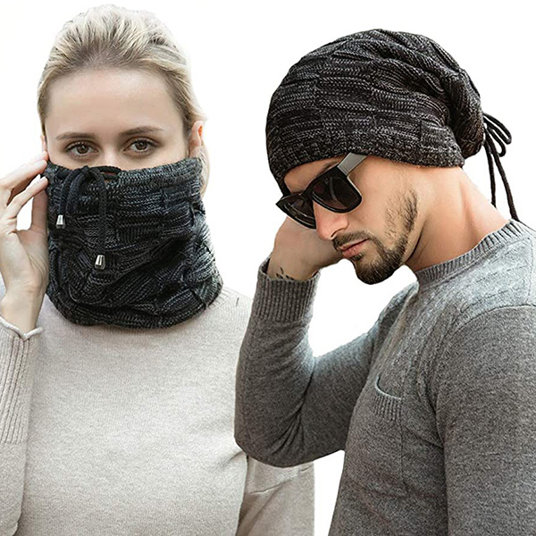 Multifunctional Reversible Slouchy Beanie With Tie-Ups