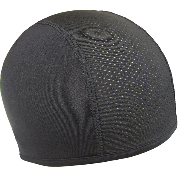 Polyester motorcycle beanie with vent hole
