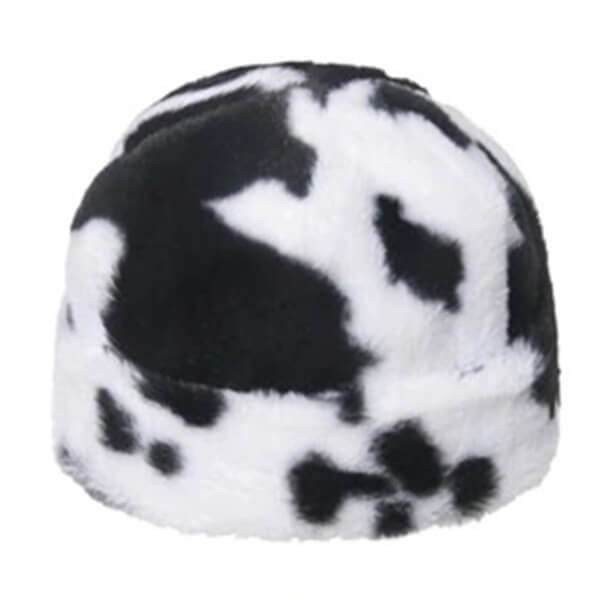 Black And White Fur Beanie for All