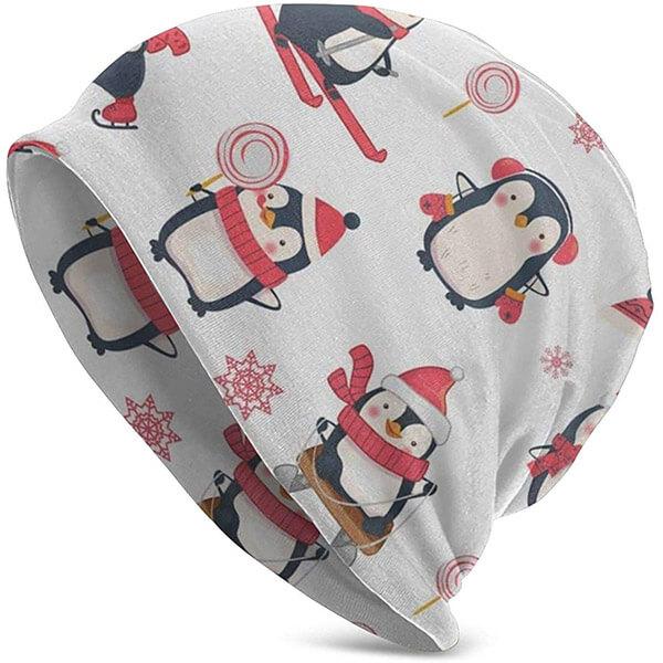 Brimless Penguin Winter Hat