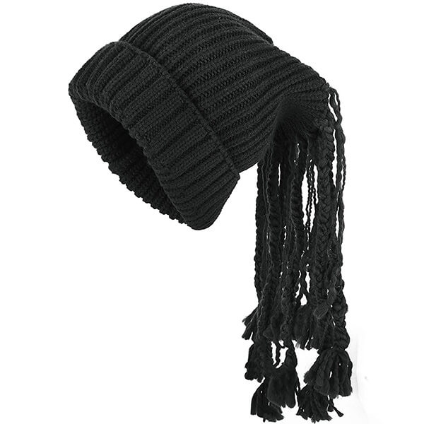 Fashionable Beanie With Ponytail Hole and Dreadlocks Wig