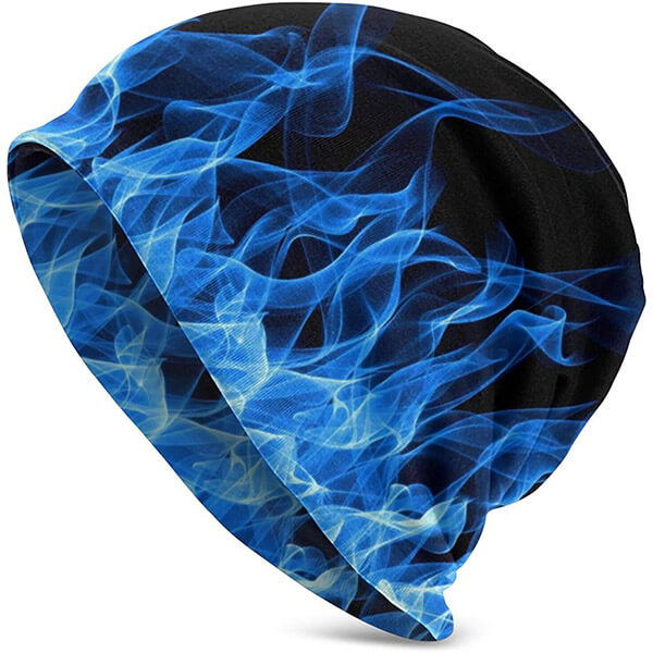 Icy Blue Flames Beanie To Make You Look Super Cool