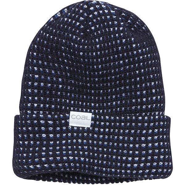 Navy blue waffle beanie for all activities