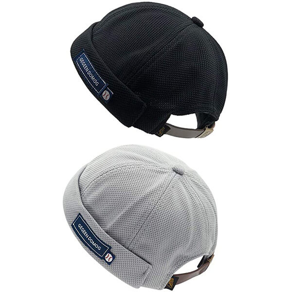 Two in one strapback beanie combo