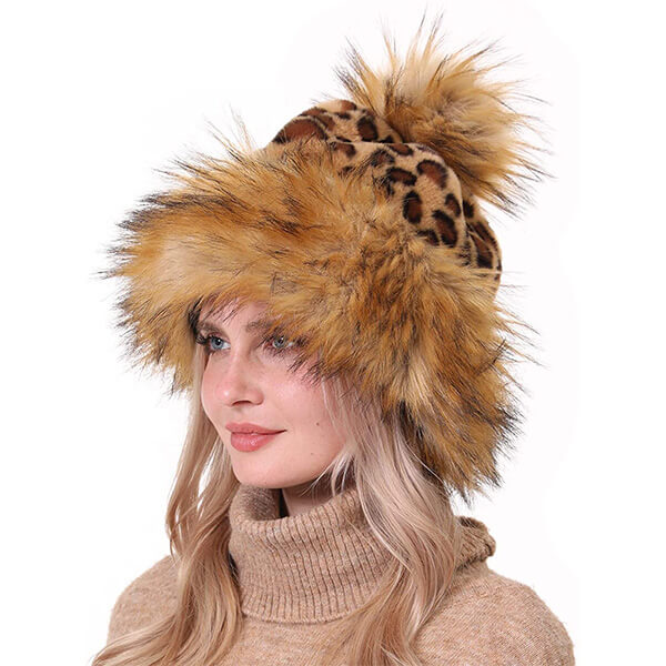 Animal Pattern Fur Beanie For You