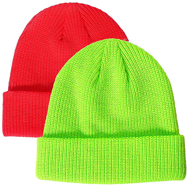 Best selling two waffle knit beanie in one pack
