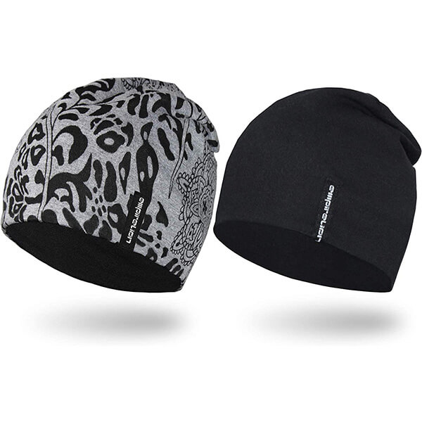 Cotton- polyester blend, two in one running beanies