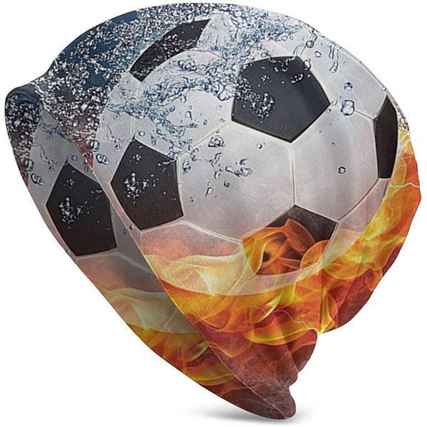 Football Flames Beanie for Sports Fanatics