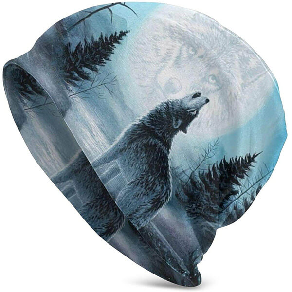 Light To Wear Wolf Beanie Nightcaps