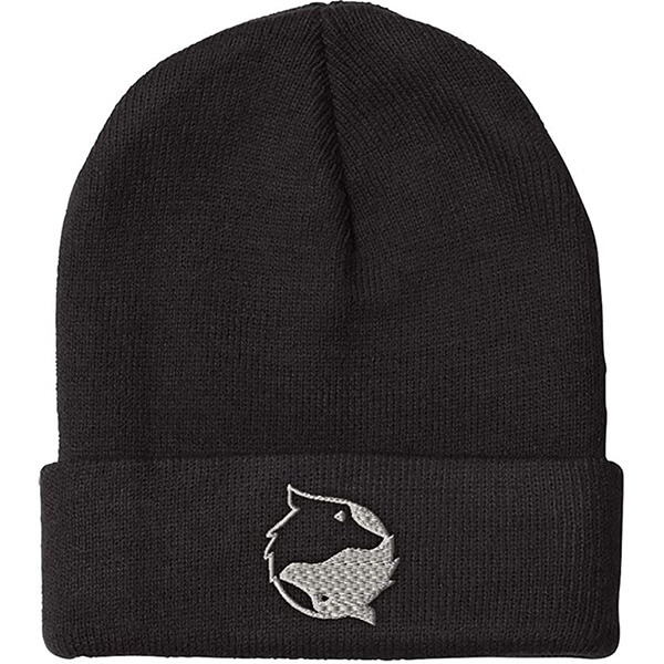Powerful Yin Yang Wolf Embroidery Beanie