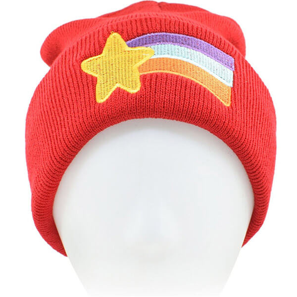 Rainbow Beanie Hat with Shooting Star