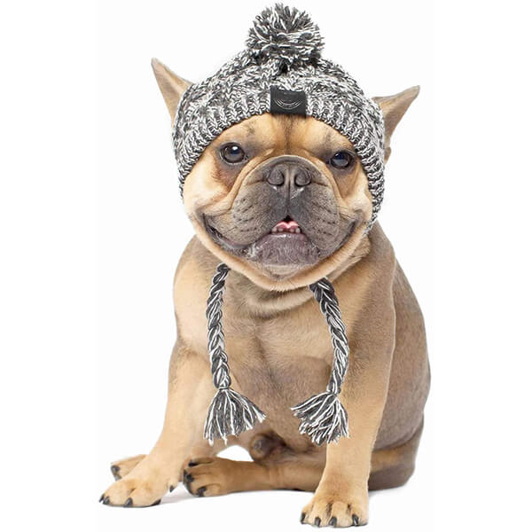 Cable Knit Beanie for Medium and Large Breeds
